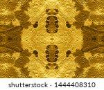 crumpled gold metallic. dirty...   Shutterstock . vector #1444408310