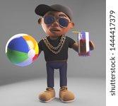Cartoon Black Hiphop Rapper...
