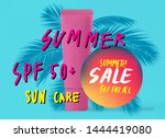 vector poster with tropical... | Shutterstock .eps vector #1444419080