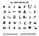 medical icons collection. black ... | Shutterstock .eps vector #1444426283