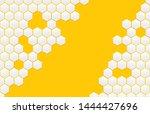 honeycomb pattern. monochrome... | Shutterstock .eps vector #1444427696
