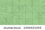 topographic map on a green...   Shutterstock .eps vector #1444431443