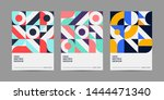 set of retro geometric covers.... | Shutterstock .eps vector #1444471340