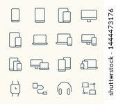 electronic devices line vector...