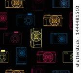 Colorful Photo Cameras Seamles...