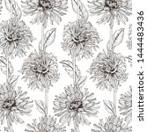 floral seamless pattern of... | Shutterstock .eps vector #1444483436