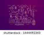 vector illustration. muslim...   Shutterstock .eps vector #1444492343
