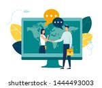 online conclusion of the... | Shutterstock .eps vector #1444493003