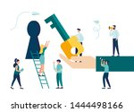 vector illustration  creative... | Shutterstock .eps vector #1444498166