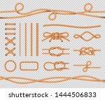 ship rope elements. realistic... | Shutterstock .eps vector #1444506833