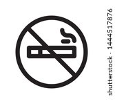 no smoking outline icon on... | Shutterstock .eps vector #1444517876