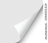 curled page corner with shadow...   Shutterstock .eps vector #1444531319