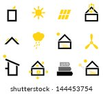 passive house icons isolated on ... | Shutterstock .eps vector #144453754