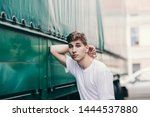 stylish hipster man in the at...   Shutterstock . vector #1444537880