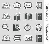 dictionary icons. sticker... | Shutterstock .eps vector #1444543853