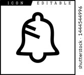 bell icon isolated sign symbol...