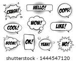 retro comic speech bubbles set... | Shutterstock .eps vector #1444547120