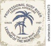 set of summer   surfing design  ... | Shutterstock .eps vector #144456673