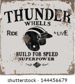 vintage motorbike race   hand... | Shutterstock .eps vector #144456679