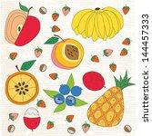 fruit pattern | Shutterstock .eps vector #144457333
