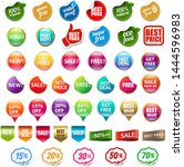 sale and discount labels set...   Shutterstock .eps vector #1444596983