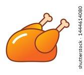 cooked chicken vector icon ... | Shutterstock .eps vector #1444614080