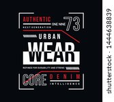 urban wear graphic typography t ... | Shutterstock .eps vector #1444638839