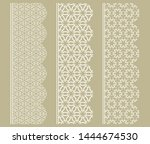 vector set of line borders with ... | Shutterstock .eps vector #1444674530