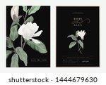 floral wedding invitation card... | Shutterstock .eps vector #1444679630