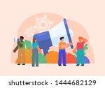 online web promotion studio ... | Shutterstock .eps vector #1444682129