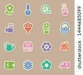 flower shop color sticker...