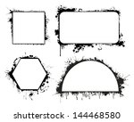 grunge images frames  borders ... | Shutterstock .eps vector #144468580