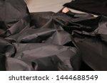black creased crumpled paper... | Shutterstock . vector #1444688549