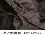black creased crumpled paper... | Shutterstock . vector #1444689713
