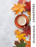 autumn backdrop with colorful...   Shutterstock . vector #1444695983