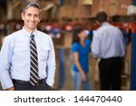portrait of manager in warehouse | Shutterstock . vector #144470440