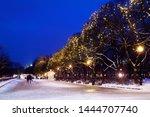 City Park On Winter Season ...