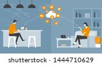 flat vector  business smart... | Shutterstock .eps vector #1444710629