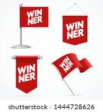 realistic 3d winner concept... | Shutterstock .eps vector #1444728626
