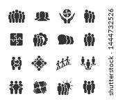 vector set of team work icons. | Shutterstock .eps vector #1444732526