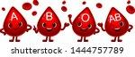 vector set of cute blood types... | Shutterstock .eps vector #1444757789