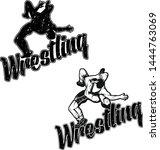 set of hand drawn sport logos ... | Shutterstock .eps vector #1444763069