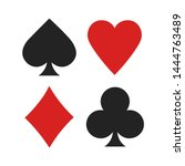 suits of playing cards. poker... | Shutterstock .eps vector #1444763489
