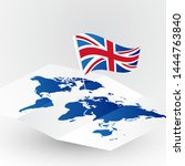 great britain flag on abstract... | Shutterstock .eps vector #1444763840
