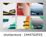 sport social media banner... | Shutterstock .eps vector #1444763933