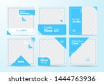 blue social media banner... | Shutterstock .eps vector #1444763936