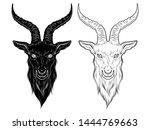 baphomet demon goat head hand... | Shutterstock .eps vector #1444769663