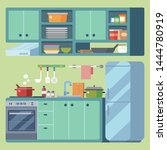 kitchen equipment design... | Shutterstock .eps vector #1444780919