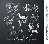 vector set of handwritten... | Shutterstock .eps vector #1444788440