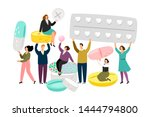 people character holding... | Shutterstock .eps vector #1444794800